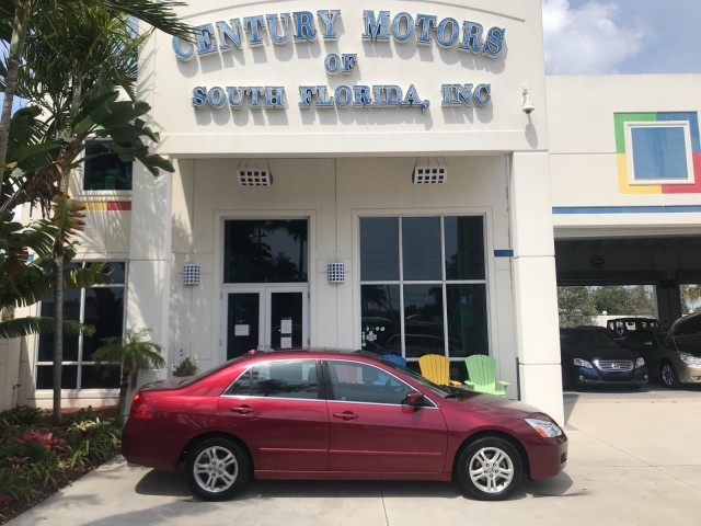 2006 Honda Accord Sdn EX-L Leather Sunroof Heated Seats CD in pompano beach, Florida