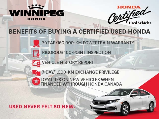 Certified Pre-Owned 2017 Honda Fit LX / Certified / Bluetooth / Heated seats / 7 year warranty