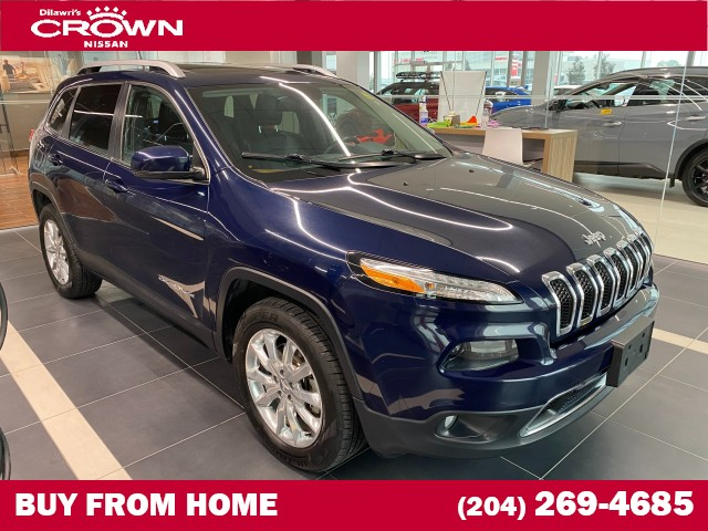 Pre-Owned 2016 Jeep Cherokee 4WD 4dr Limited **Leather seats/ Navigation/ Remote start**