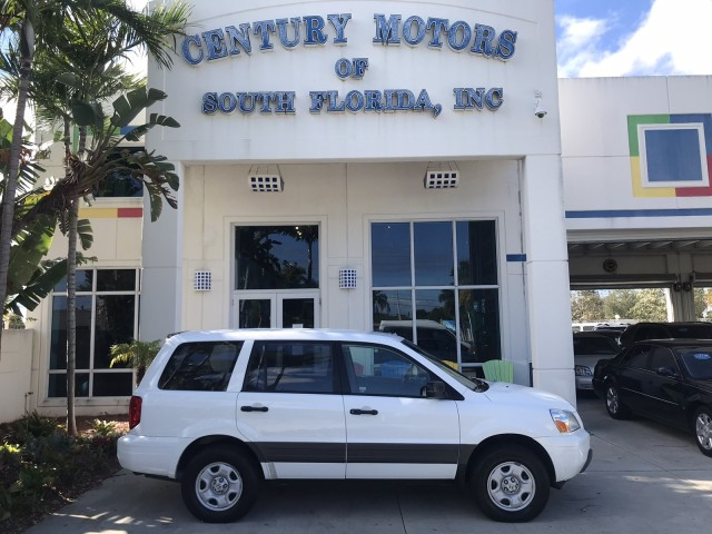 2004 Honda Pilot LX 1-Owner Clean CarFax Low Miles in pompano beach, Florida