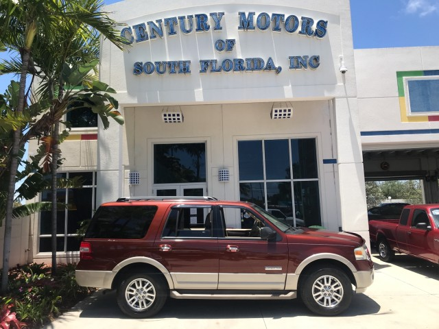 2007 Ford Expedition Eddie Bauer Leather 8 Passenger 3rd Row 1-Owner in pompano beach, Florida