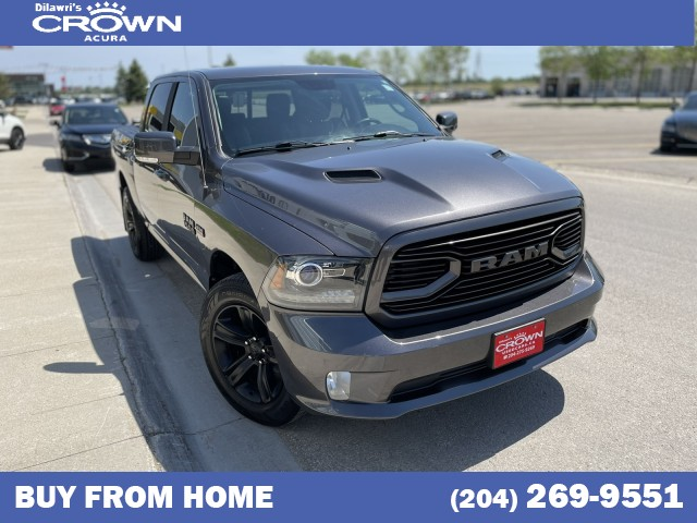 Pre-Owned 2018 Ram 1500 Sport 4x4 Crew Cab 5'7 Box *Navigation / Leather / Heated and Cooled Front Seats*
