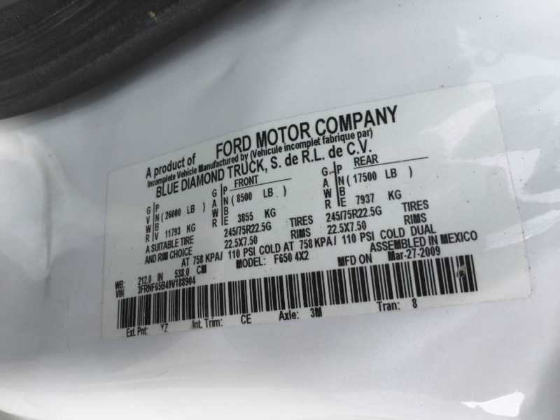 2009 Ford F-650 Vacuum Truck
